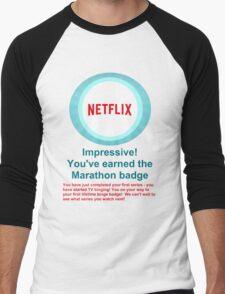 Netflix Binge Badge Men's Baseball ¾ T-Shirt