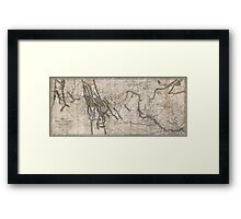 LEWIS & CLARK's HAND-DRAWN MAP OF DISCOVERY 1804 Framed Print