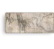 LEWIS & CLARK's HAND-DRAWN MAP OF DISCOVERY 1804 Metal Print