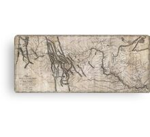 LEWIS & CLARK's HAND-DRAWN MAP OF DISCOVERY 1804 Canvas Print