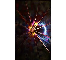 STARBURST EFFECT ON 2012 METAL WALL ARTWORK by JAKE HOWARD Photographic Print