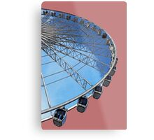 The Echo wheel of Liverpool in red by Tim Constable Metal Print
