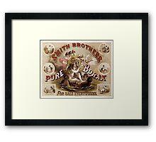 PURE BORAX - SMITH BROTHERS c. 1880 Framed Print