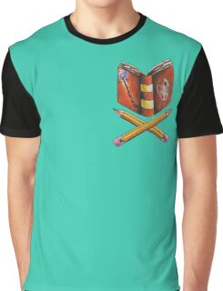 Booklovers Coat of Arms Graphic T-Shirt