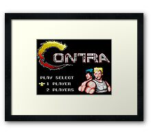 Contra (NES Title Screen) Framed Print