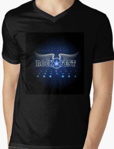 Rock Festival Template Mens V-Neck T-Shirt