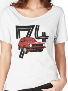 Retro 1970's gti hatchback car t-shirt Women's Relaxed Fit T-Shirt