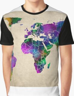 MAP of the WORLD ANTIQUE Graphic T-Shirt