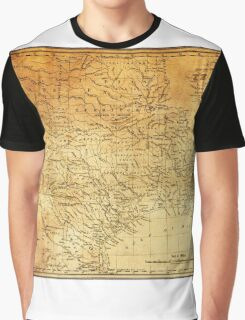 MAP of the REPUBLIC of TEXAS 1841 Graphic T-Shirt