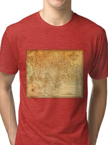 MAP of the REPUBLIC of TEXAS 1841 Tri-blend T-Shirt