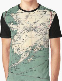 ALASKA GOLD RUSH SURVIVAL MAP/GUIDE  1897 Graphic T-Shirt