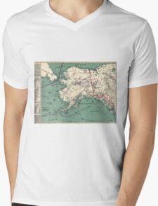 ALASKA GOLD RUSH SURVIVAL MAP/GUIDE  1897 Mens V-Neck T-Shirt