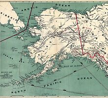 ALASKA GOLD RUSH SURVIVAL MAP/GUIDE  1897 by Daniel-Hagerman