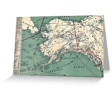 ALASKA GOLD RUSH SURVIVAL MAP/GUIDE  1897 Greeting Card