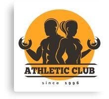 Sport Athletic Club Emblem Canvas Print