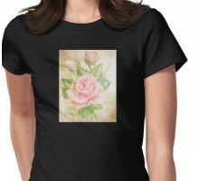 Rose with petals sweet. Womens Fitted T-Shirt