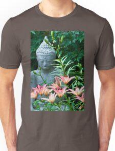 Lilies And Garden Statue Unisex T-Shirt