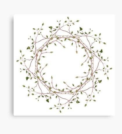 Circle shaped branches Canvas Print