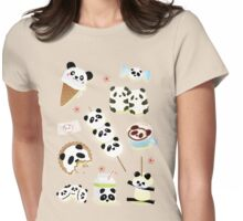 Panda Snacks Womens Fitted T-Shirt