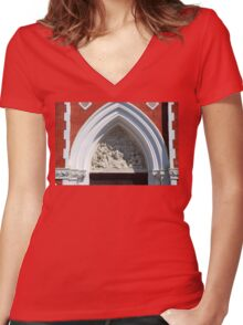 A lesson.... Women's Fitted V-Neck T-Shirt