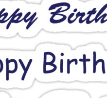 Happy Birthday - Blue Sticker