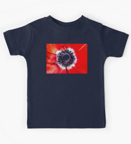 Symmetry on Red Kids Tee