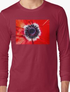 Symmetry on Red Long Sleeve T-Shirt