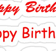 Happy Birthday text - Red Sticker