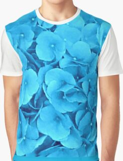Sky Blue Flowers Graphic T-Shirt