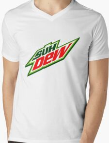SUH DUDE SUH DEW MOUNTAIN DEW Mens V-Neck T-Shirt
