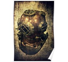 DEEP SEA DIVING HELMET GRUNGE Poster