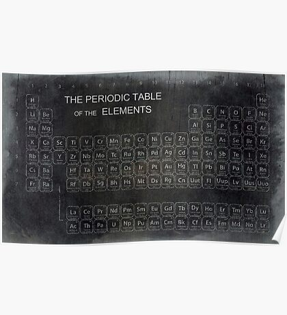 AGED PERIODIC TABLE Poster