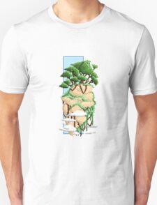 Pixel Landscape : Flying Rock Unisex T-Shirt