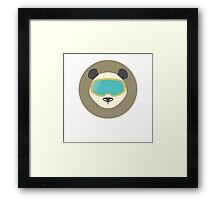 Pada bear with ski mask. Framed Print