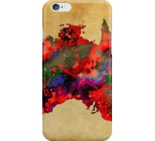 WATERCOLOR MAP of AUSTRALIA iPhone Case/Skin
