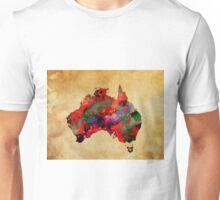 WATERCOLOR MAP of AUSTRALIA Unisex T-Shirt