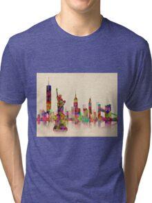 NEW  YORK CITY SKYLINE Tri-blend T-Shirt