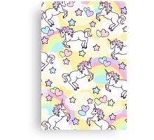 Unicorn Candy Canvas Print
