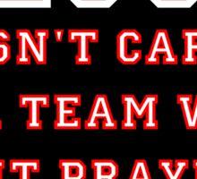 Jesus: Not a Sports Fan - White/Red Sticker