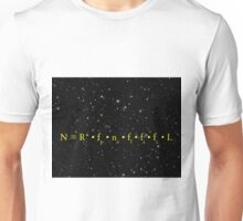 DRAKE EQUATION of EXTRATERRESTRIAL ALIEN LIFE Unisex T-Shirt