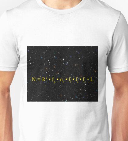 DRAKE EQUATION of EXTRATERRESTRIAL ALIEN LIFE Unisex T-Shirt