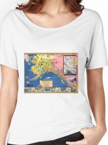 TRAVEL ALASKA FUN MAP 1934 Women's Relaxed Fit T-Shirt