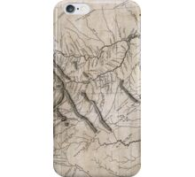 LEWIS & CLARK's HAND-DRAWN MAP OF DISCOVERY 1804 iPhone Case/Skin