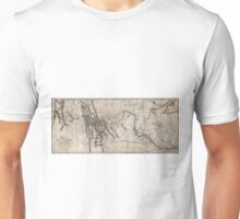 LEWIS & CLARK's HAND-DRAWN MAP OF DISCOVERY 1804 Unisex T-Shirt