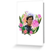 Army of Darkness Floral Greeting Card