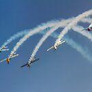 """Aerostars"" 5-ship Yak-50 Formation by Colin Smedley"