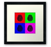 POP ART HUMAN BRAINS Framed Print