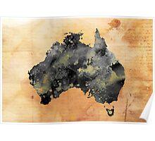 AUSTRALIA GRUNGE Poster