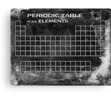 CHEMICAL SPLASHED PERIODIC TABLE Canvas Print