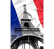 FRENCH FLAG and EIFFEL TOWER Photographic Print